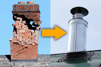 Замена старых дымоходов